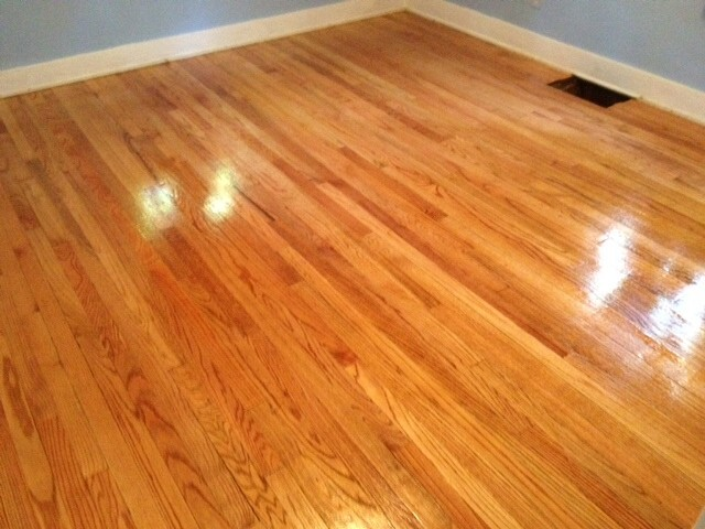 An updated and fixed up hardwood floor that was refinished by Fabulous Floors Columbia
