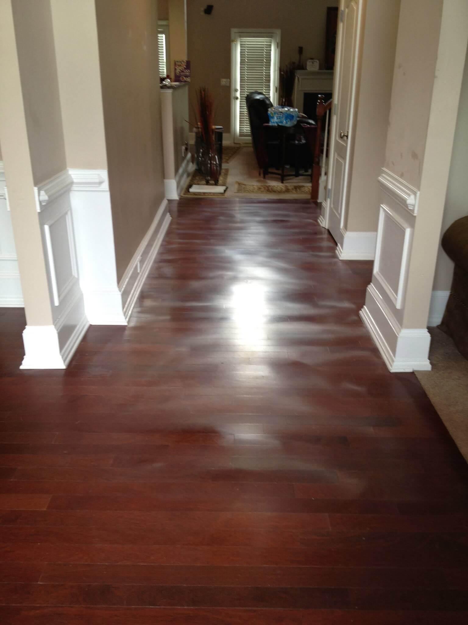 hardwood floor showing severe signs of warping
