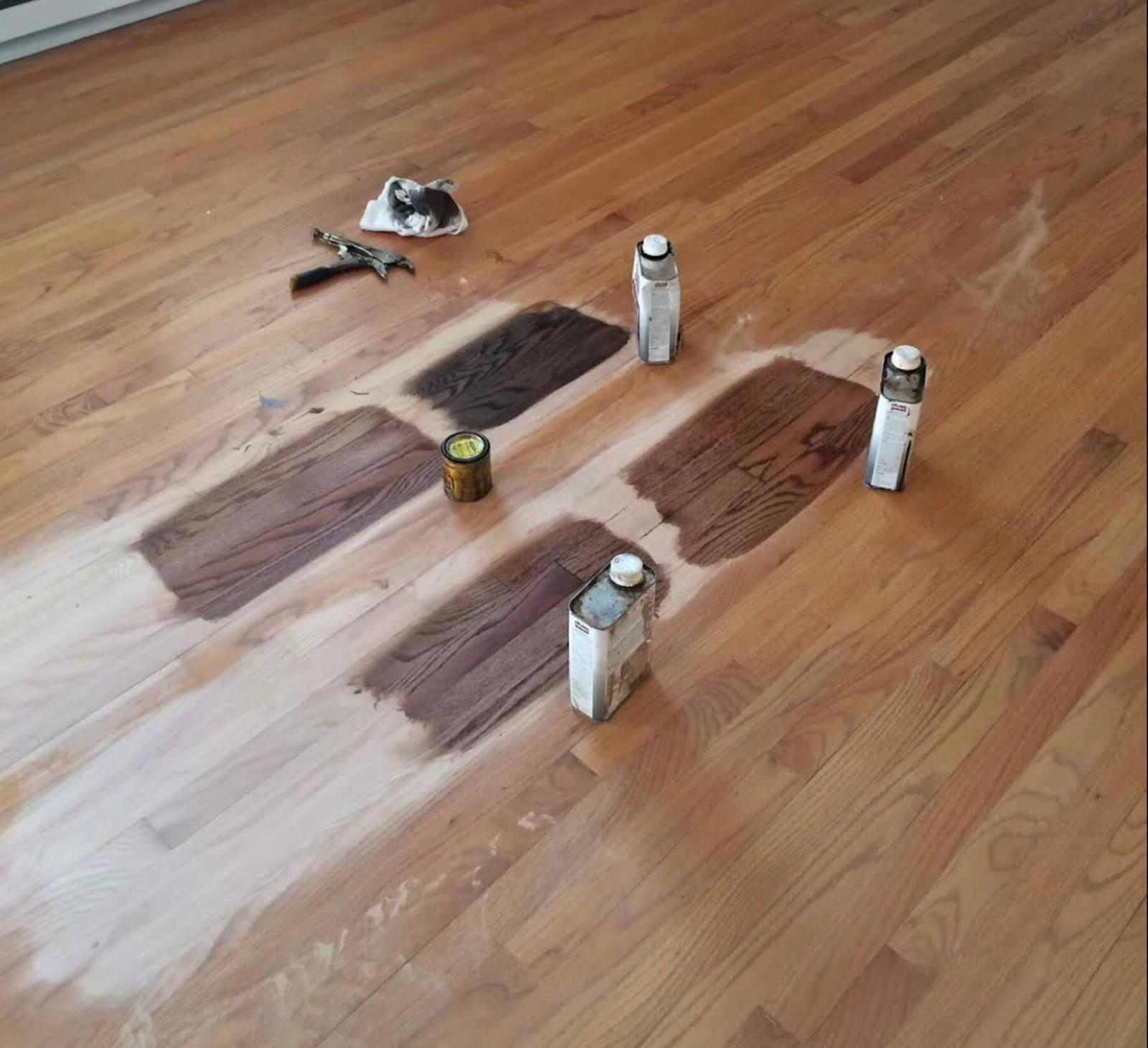 Hardwood Floor Staining in Columbia