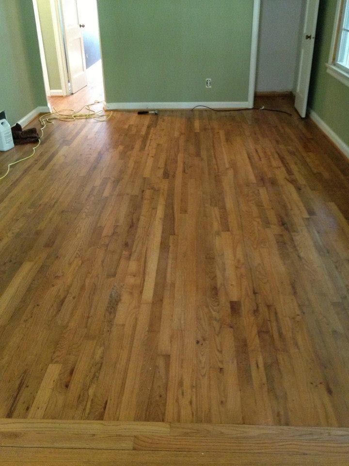 before a hardwood floor resurfacing