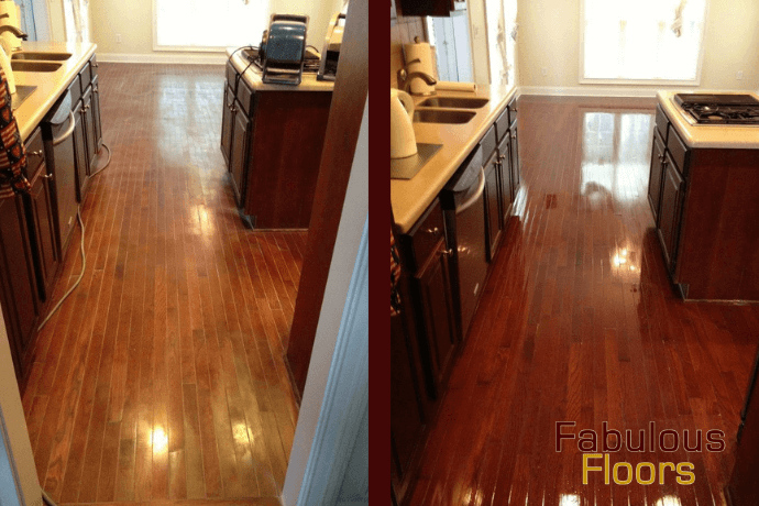 before and after hardwood floor refinishing in arthurtown, sc