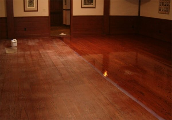 a photo taken halfway through a resurfacing project to show the difference we make.